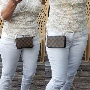 **SOLD**Louis Vuitton Damier Ebine crossbody bum